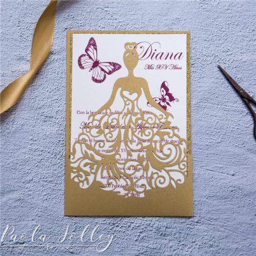Paola Jolley Designs Stationery Orlando-0161 Quinciañera, sweet sixteen